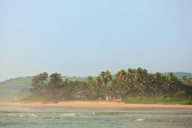 Τροπική παραλία σε Goa στοκ φωτογραφία