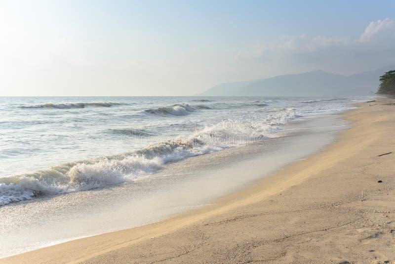 Τροπική ωκεάνια παραλία τοπίων στοκ εικόνα με δικαίωμα ελεύθερης χρήσης