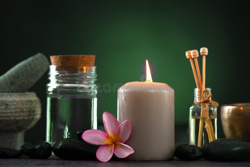 Τροπική frangipani spa θεραπεία υγείας με τη θεραπεία αρώματος και στοκ φωτογραφίες με δικαίωμα ελεύθερης χρήσης