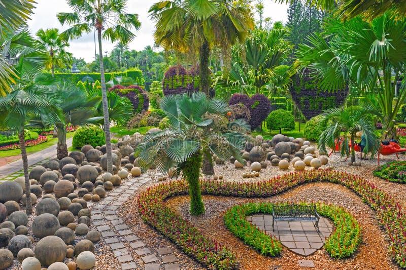 Τροπικός βοτανικός κήπος Nooch Nong, Pattaya, Ταϊλάνδη στοκ φωτογραφίες με δικαίωμα ελεύθερης χρήσης