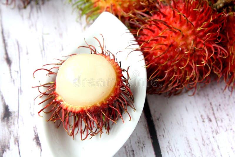Τροπικός καρπός Rambutan στοκ εικόνα