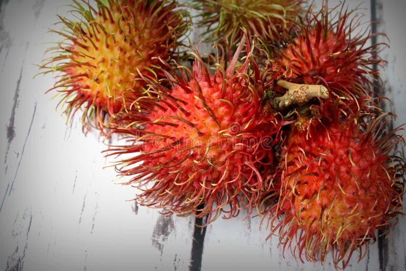 Τροπικός καρπός Rambutan στοκ φωτογραφία