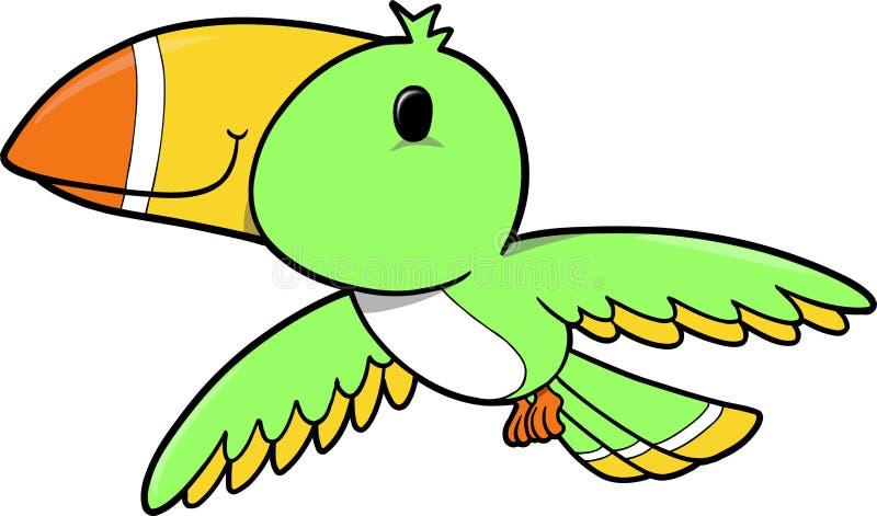 τροπικό διάνυσμα πουλιών διανυσματική απεικόνιση
