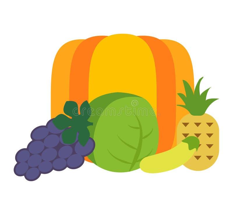 Τροπικό διανυσματικό σύνολο φρούτων ελεύθερη απεικόνιση δικαιώματος