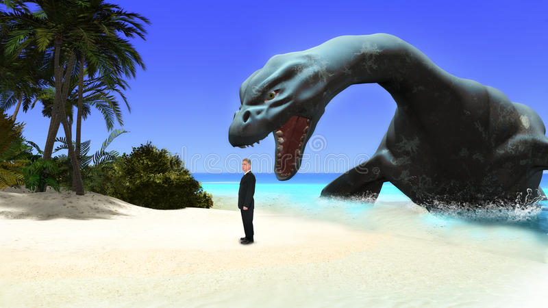Τροπικό νησί παραδείσου, επιχείρηση, κίνδυνος στοκ εικόνα με δικαίωμα ελεύθερης χρήσης
