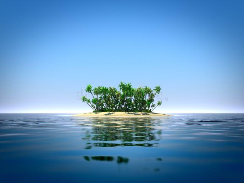 Τροπικό νησί στον ωκεανό διανυσματική απεικόνιση