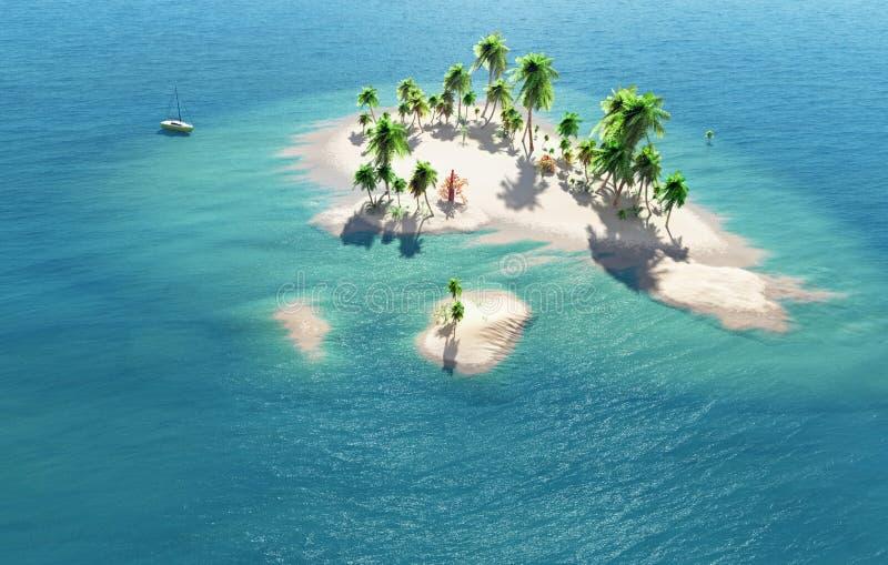 Τροπικό νησί απεικόνιση αποθεμάτων