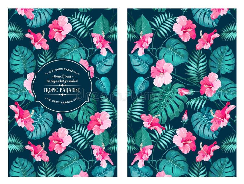 Τροπικό σχέδιο λουλουδιών απεικόνιση αποθεμάτων