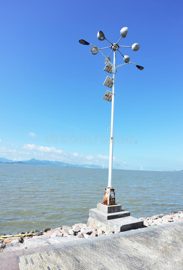 τροφοδοτημένος προβολέας ηλιακός στοκ φωτογραφία με δικαίωμα ελεύθερης χρήσης