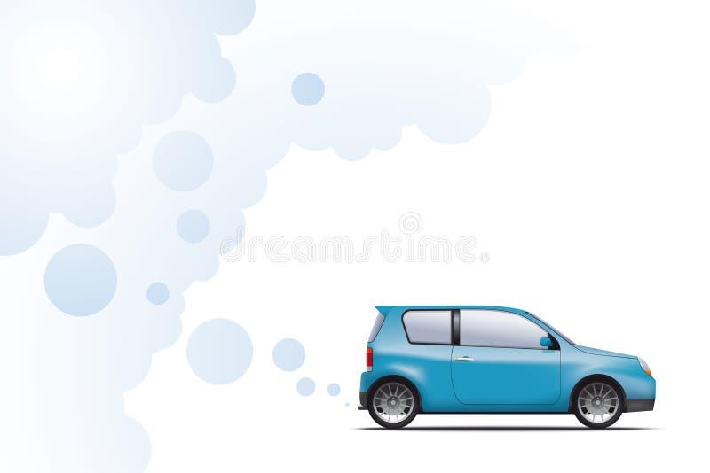 Τροφοδοτημένο υδρογόνο αυτοκίνητο διανυσματική απεικόνιση