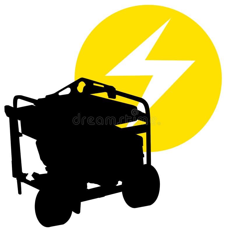 Τροφοδοτημένη αέριο γεννήτρια ελεύθερη απεικόνιση δικαιώματος