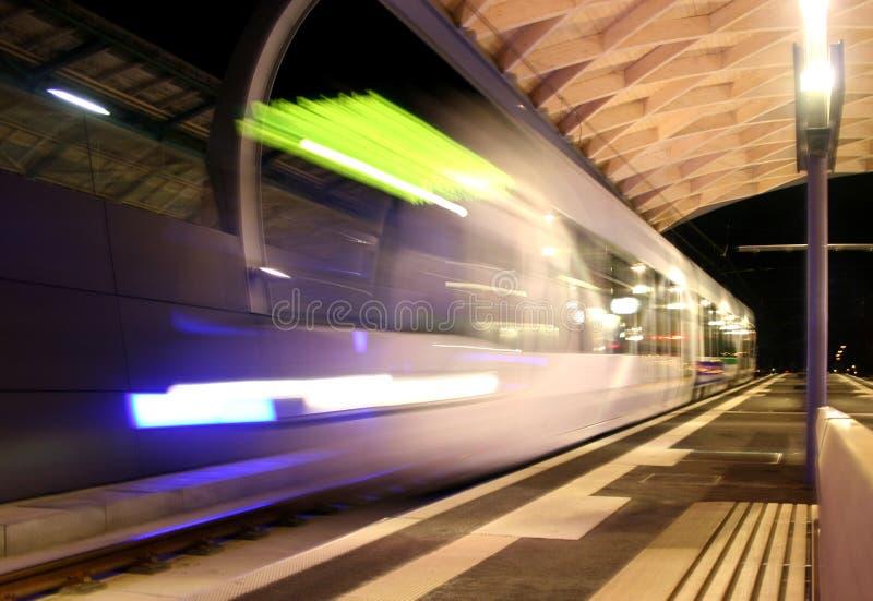 τροχιοδρομική γραμμή κίνη&sigm στοκ εικόνες