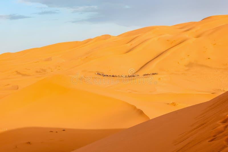 Τροχόσπιτο στη Σαχάρα στοκ φωτογραφία με δικαίωμα ελεύθερης χρήσης