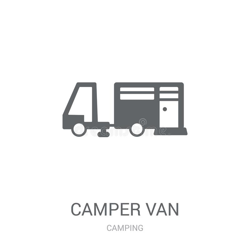 Τροχόσπιτο van icon  διανυσματική απεικόνιση