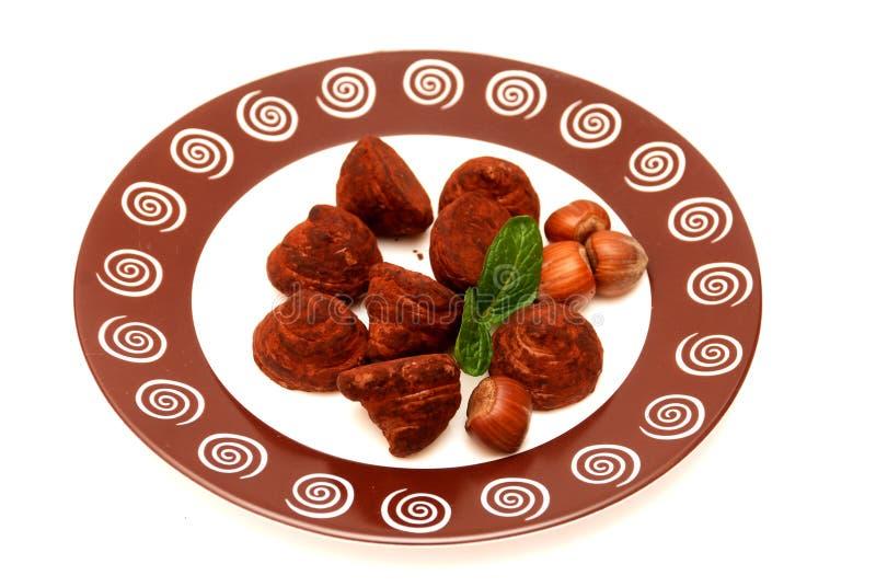 τρούφες πιάτων μεντών φύλλω&n στοκ φωτογραφίες με δικαίωμα ελεύθερης χρήσης