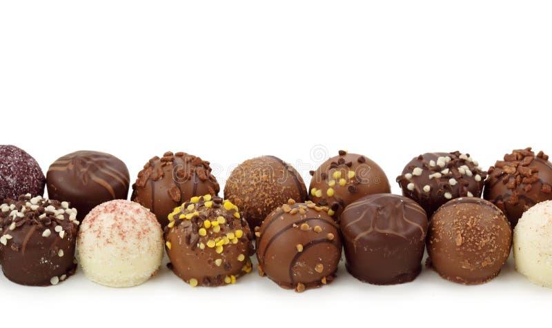 τρούφες σοκολάτας στοκ εικόνα με δικαίωμα ελεύθερης χρήσης