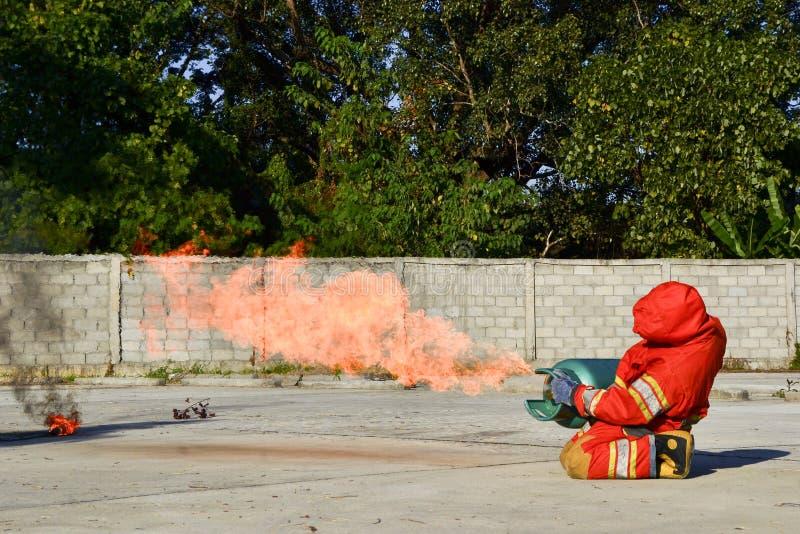 Τρυπάνια πυρκαγιάς πρακτικής στοκ εικόνες