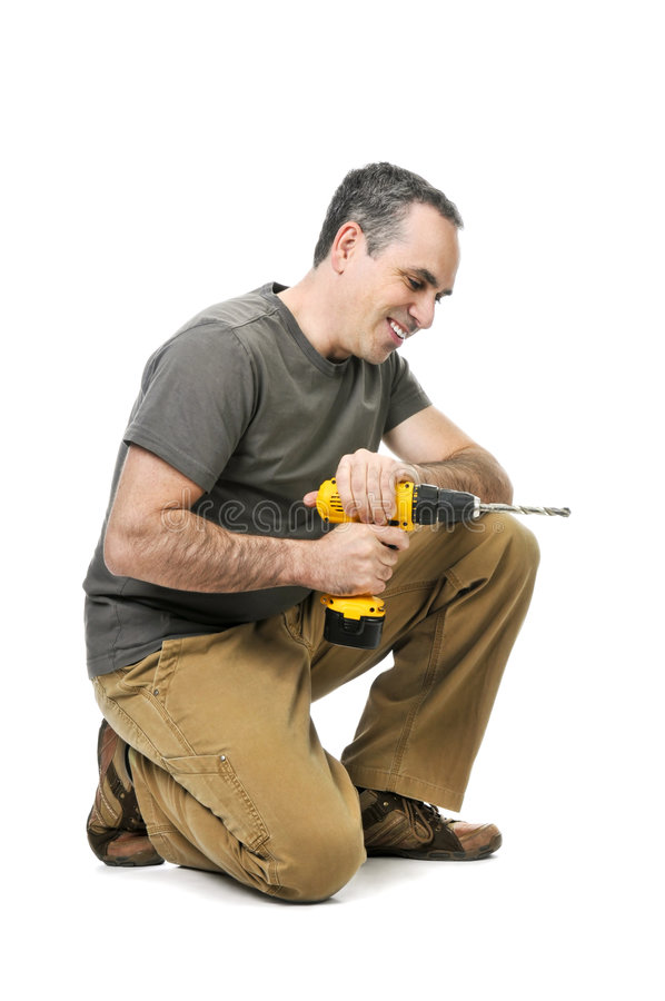 τρυπάνι handyman στοκ εικόνες