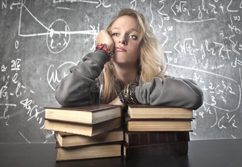 Τρυπημένη μαθήτρια στοκ φωτογραφία