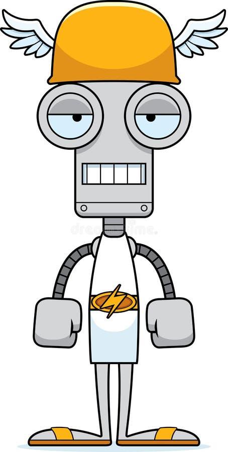 Τρυπημένο κινούμενα σχέδια ρομπότ της Hermes ελεύθερη απεικόνιση δικαιώματος