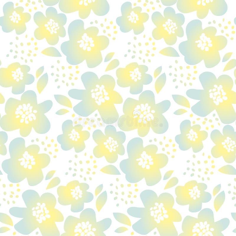 Τρυφερή floral διανυσματική απεικόνιση χρώματος ελεύθερη απεικόνιση δικαιώματος