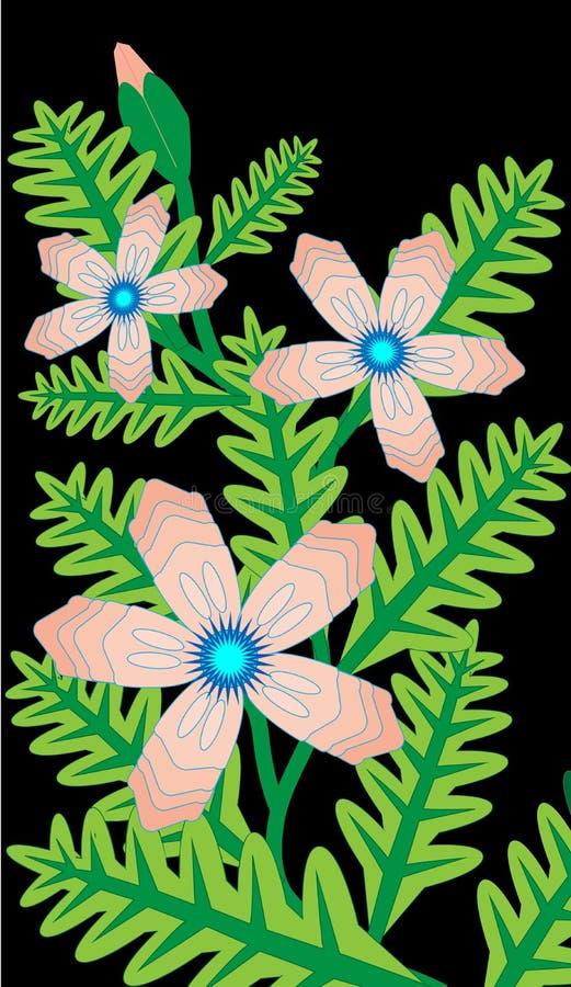 Τρυφερό διάνυσμα λουλουδιών στοκ φωτογραφία