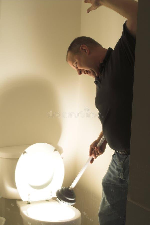 Τρόμος τουαλετών στοκ φωτογραφία