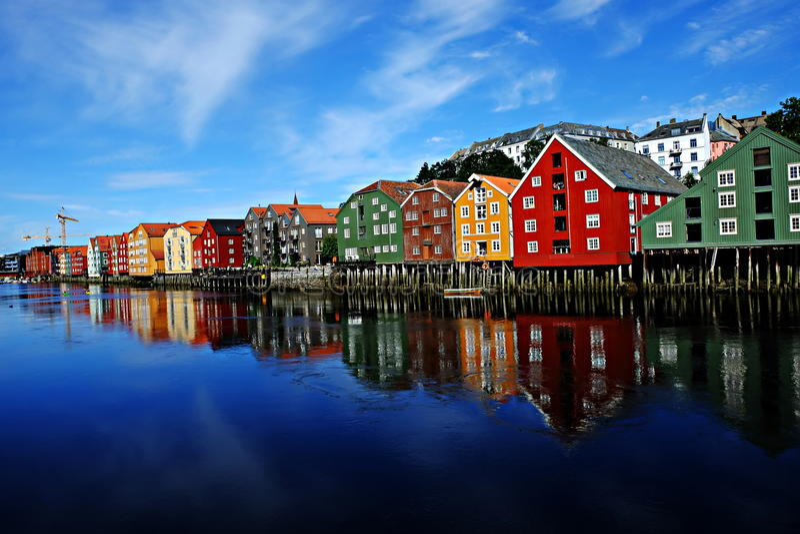 Τρόντχαιμ, Νορβηγία στοκ εικόνες με δικαίωμα ελεύθερης χρήσης