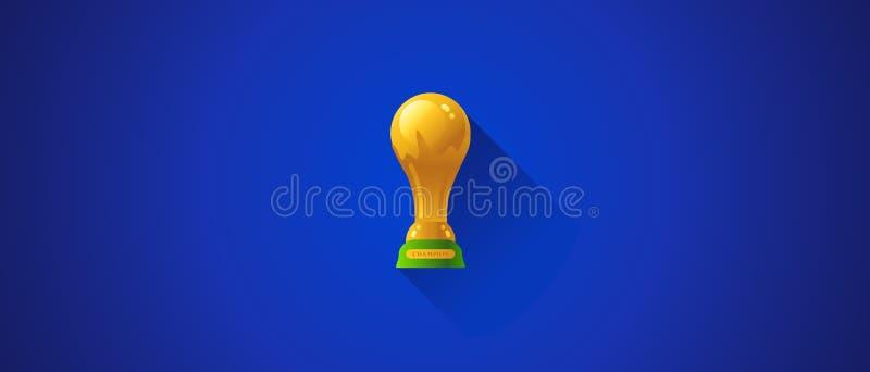 Τρόπαιο ποδοσφαίρου Παγκόσμιου Κυπέλλου διανυσματική απεικόνιση
