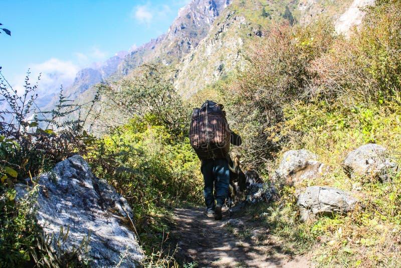 Τρόποι ζωής στην περιοχή βουνών του Νεπάλ στοκ εικόνες με δικαίωμα ελεύθερης χρήσης