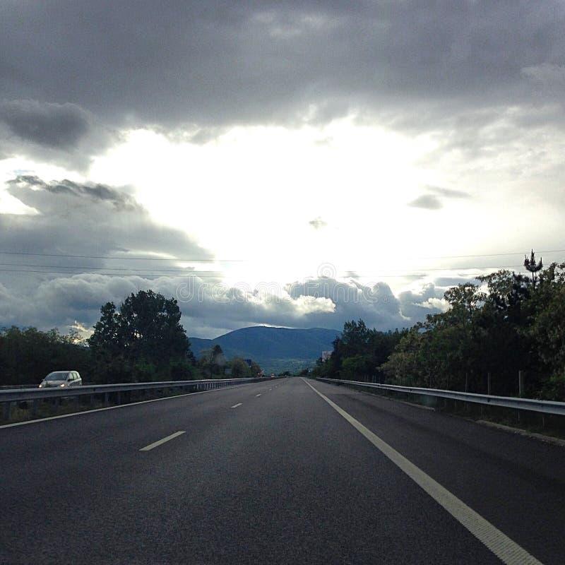 Τρόπος ελευθερίας οδικού ταξιδιού στοκ φωτογραφίες με δικαίωμα ελεύθερης χρήσης