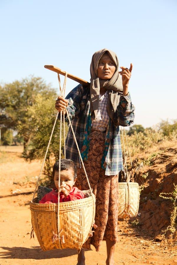 Τρόπος ζωής σε Bagan, το Μιανμάρ στοκ φωτογραφίες