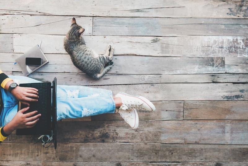Τρόπος ζωής Hipster και δημιουργικός χώρος εργασίας στοκ φωτογραφίες