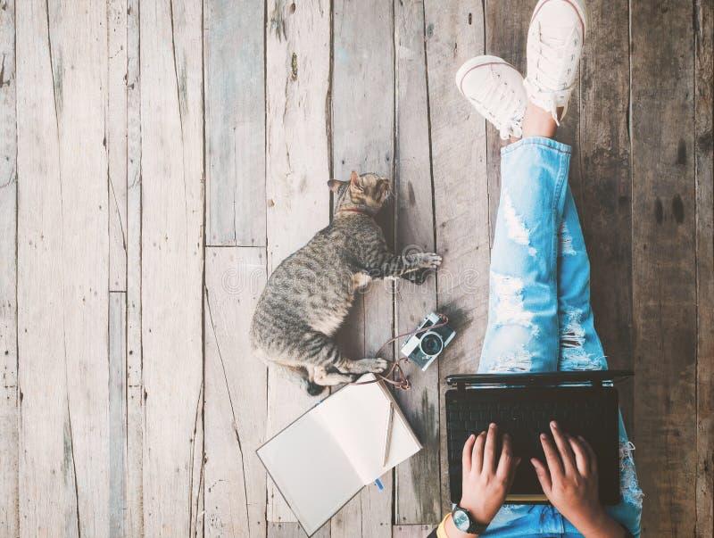 Τρόπος ζωής Hipster και δημιουργικός χώρος εργασίας στοκ εικόνες