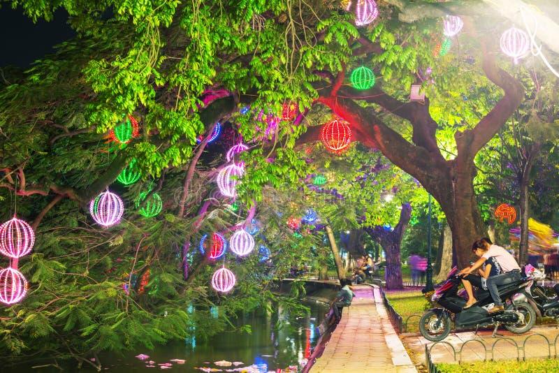 τρόπος πάρκων πόλεων Ανόι στοκ φωτογραφία με δικαίωμα ελεύθερης χρήσης