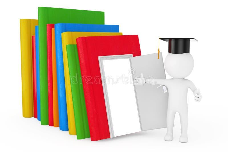 Τρόπος στην έννοια γνώσης, εκπαίδευσης και ανάγνωσης Πρόσωπο σε ένα Gra ελεύθερη απεικόνιση δικαιώματος