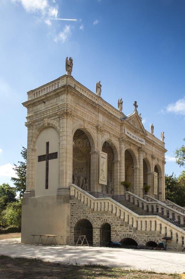 Τρόπος του σταυρού και του Calvary που χτίζονται πριν από χρόνια από το Σαιντ Λούις Montfo στοκ φωτογραφία με δικαίωμα ελεύθερης χρήσης