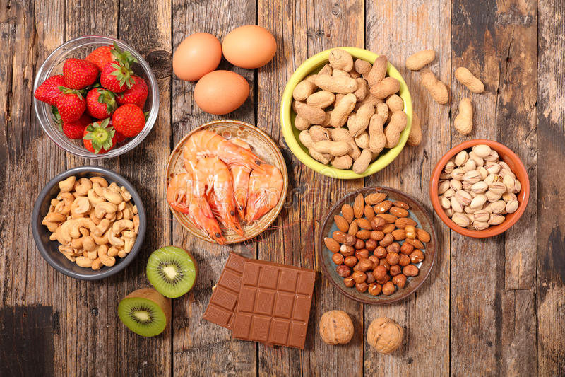 Τρόφιμα αλλεργίας στοκ εικόνες