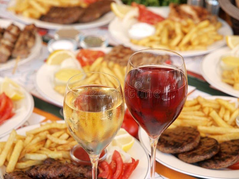 τρόφιμα ελληνικά στοκ εικόνες