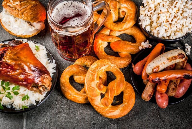 Τρόφιμα επιλογής για Oktoberfest στοκ φωτογραφία