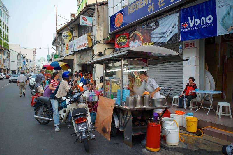 Τρόφιμα οδών στην Τζωρτζτάουν Penang, Μαλαισία στοκ εικόνες με δικαίωμα ελεύθερης χρήσης