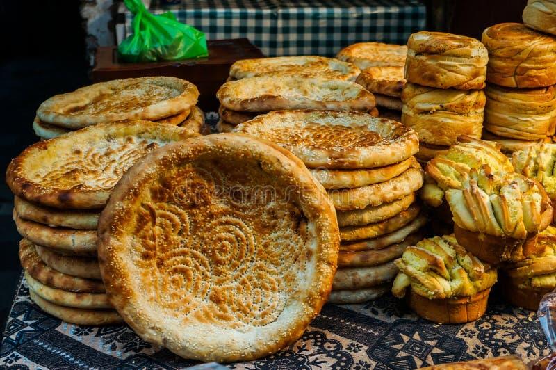 Τρόφιμα οδών στη μουσουλμανική οδό σε Xian στοκ εικόνες