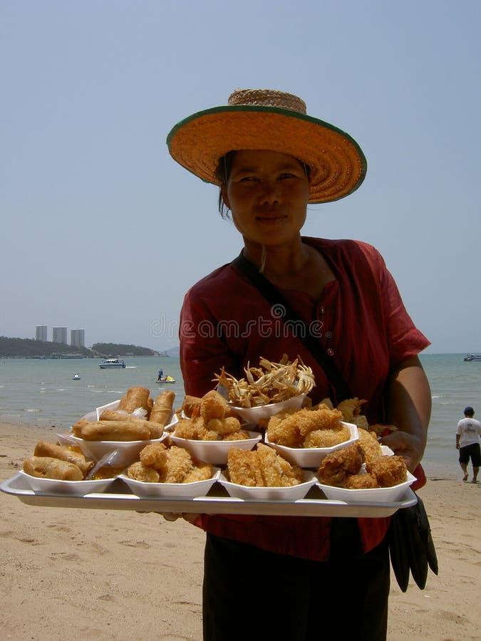 τρόφιμα που πωλούν την ταϊλ&a στοκ φωτογραφία