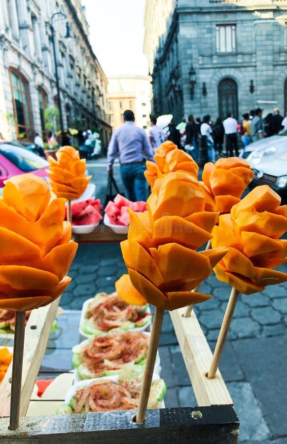 Τρόφιμα Πόλη του Μεξικού οδών στοκ εικόνες