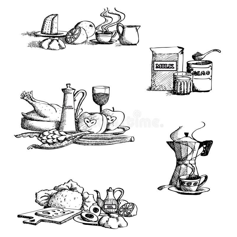 τρόφιμα συλλογής διανυσματική απεικόνιση