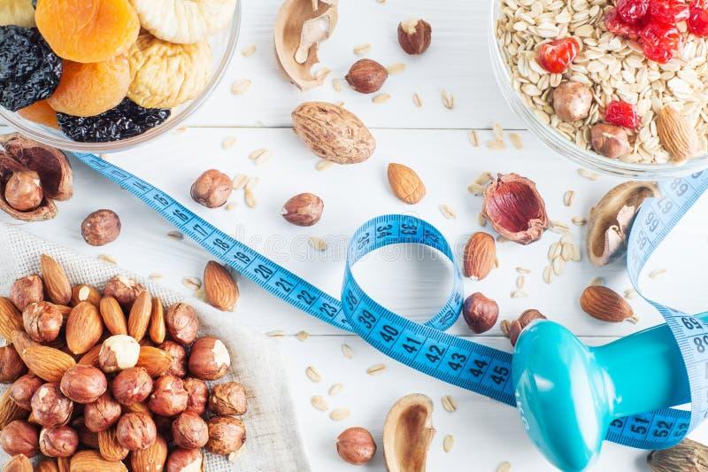 τρόφιμα υγιή Συστατικά για το υγιές πρόγευμα στοκ εικόνες