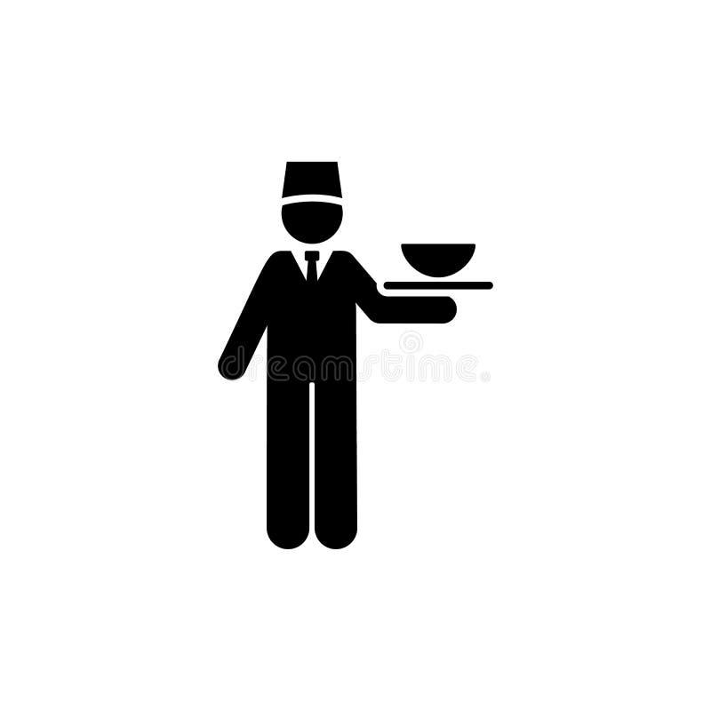 Τρόφιμα, υπηρεσίες, ξενοδοχείο, εικονίδιο σερβιτόρων Στοιχείο του εικονιδίου εικονογραμμάτων ξενοδοχείων r r διανυσματική απεικόνιση