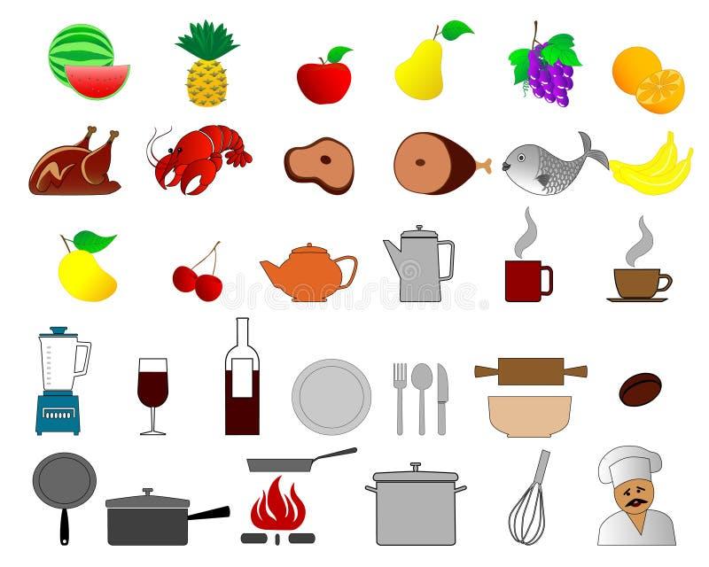 τρόφιμα 2 διανυσματική απεικόνιση