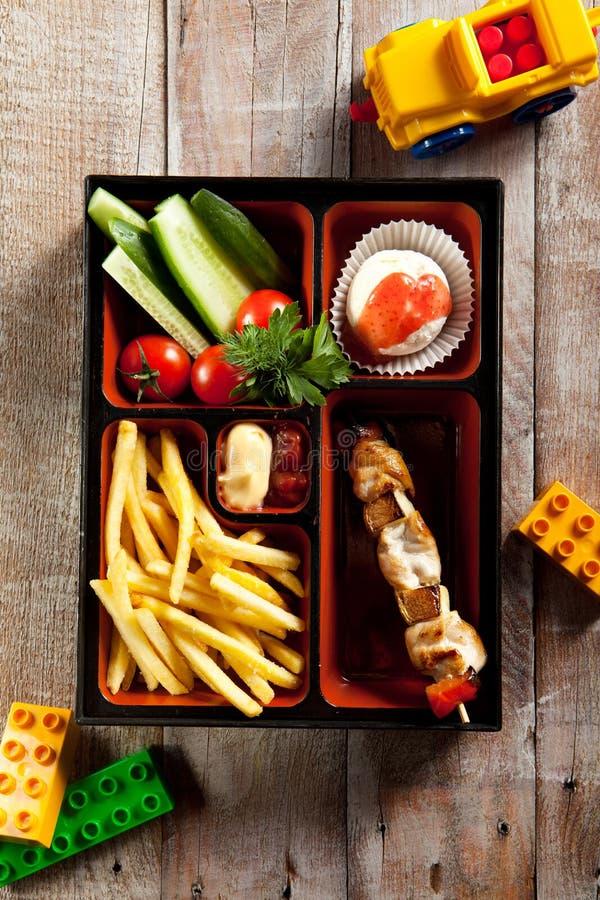 Τρόφιμα Bento παιδιών στοκ φωτογραφία με δικαίωμα ελεύθερης χρήσης