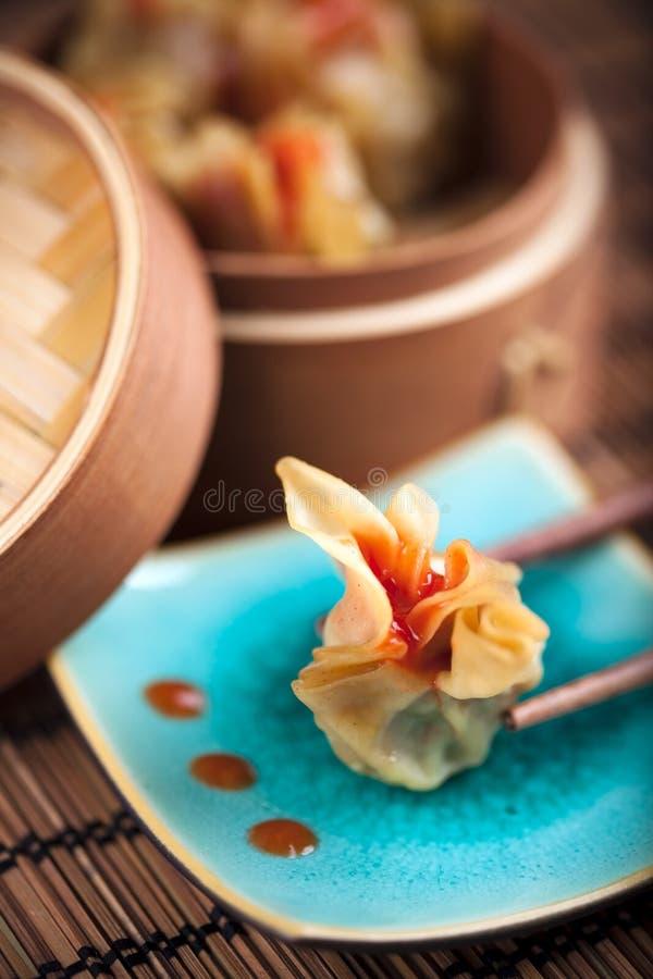 τρόφιμα dimsum της Ασίας στοκ εικόνες